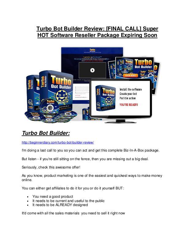 Turbo Bot Builder review- Turbo Bot Builder (MEGA) $21,400 bonus Turbo Bot Builder Review and (Free) GIANT $14,600 BONUS