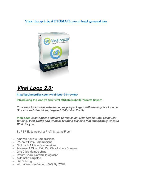 Viral Loop 2.0 Review demo - $22,700 bonus Viral Loop 2.0 review demo and $14800 bonuses