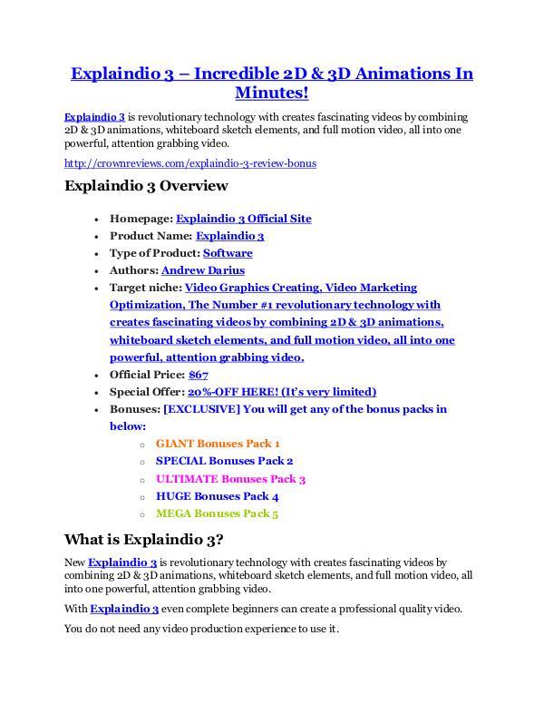 MarketingExplaindio 3 review & bonus - I was Shocked! Explaindio 3 Review & GIANT Bonus
