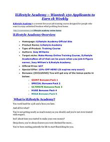 marketing iLifestyle Academy review - iLifestyle Academy +100 bonus items