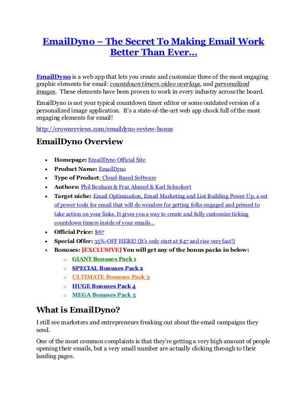 MarketingEmailDyno review and (Free) $21,400 Bonus & Discount EmailDyno review & bonuses - cool weapon