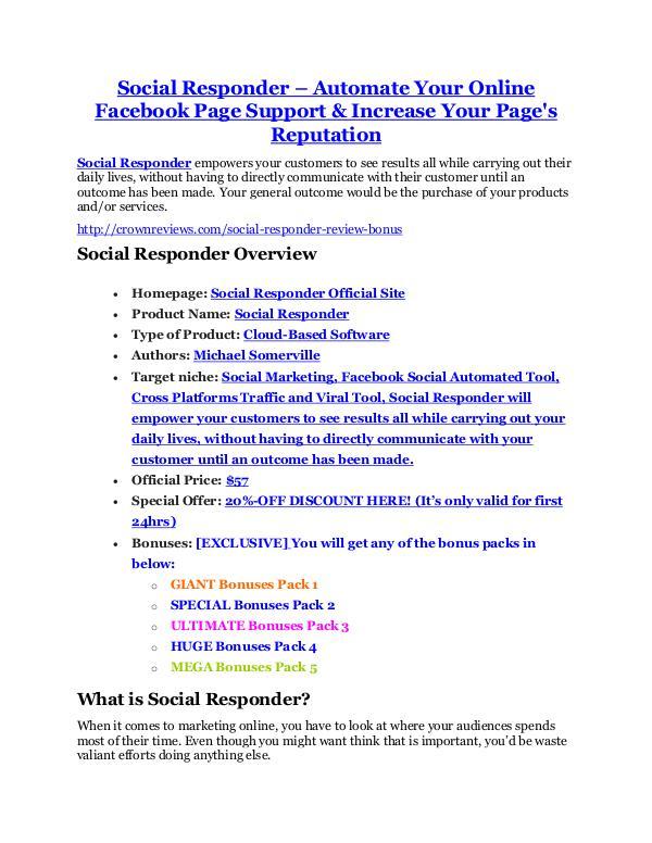 marketing Social Responder Review and (FREE) Social Responder $24,700 Bonus