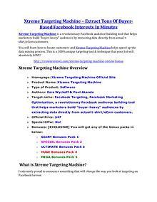 marketing Xtreme Targeting Machine review-- Xtreme Targeting Machine (SECRET) bonuses