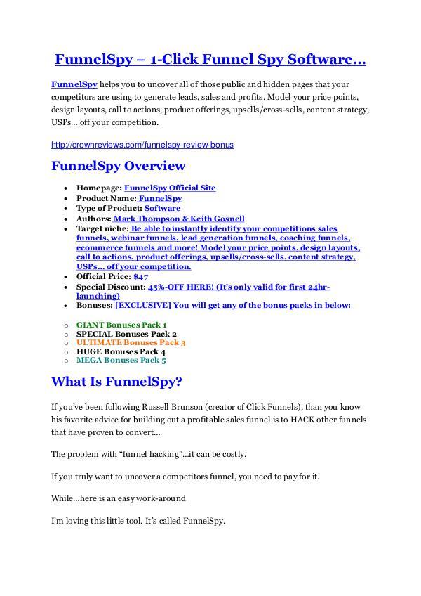 marketing FunnelSpy review-(MEGA) $23,500 bonus of FunnelSpy