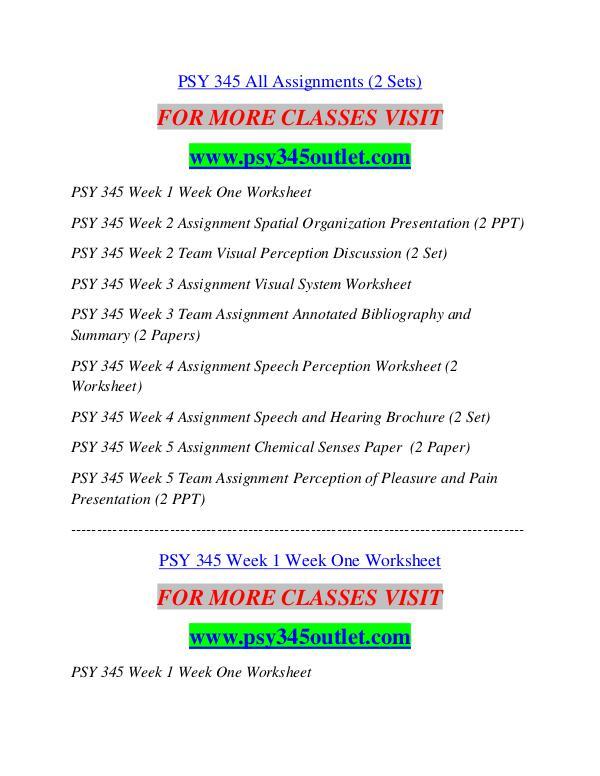 PSY 345 OUTLET Career Path Begins/psy345outlet.com PSY 345 OUTLET ...