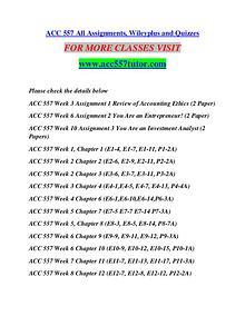 ACC 557 TUTOR Learn by Doing/acc557tutor.com