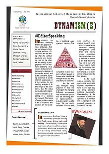 DYNAMISM(E) - ISME Student Quarterly