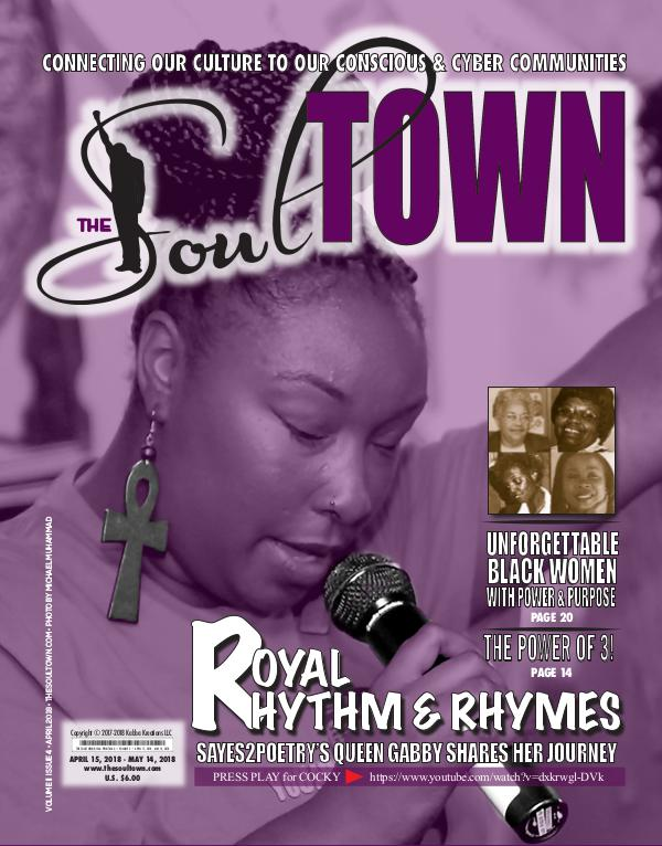 The Soultown! Volume II: Issue 4 APRIL 2018