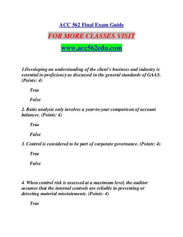 ACC 562 EDU Learn by Doing/acc562edu.com ACC 562 EDU Learn by Doing/acc562edu.com