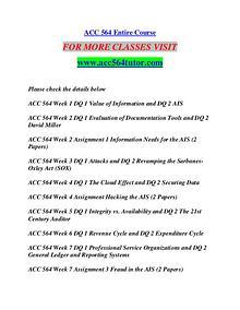 ACC 564 TUTOR Learn by Doing/acc564tutor.com