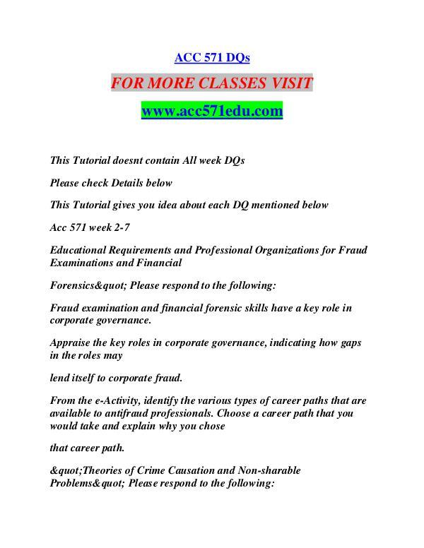 ACC 571 EDU Learn by Doing/acc571edu.com ACC 571 EDU Learn by Doing/acc571edu.com