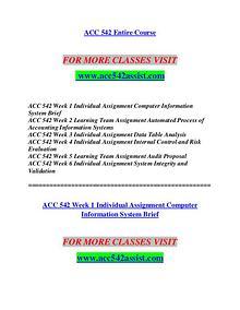 ACC 542 ASSIST Redefine the Possible/acc542assist.com