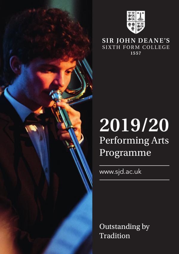 2019/20 Performing Arts Programme