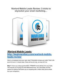 Warlord Mobile Leads review and Exclusive $26,400 Bonus Warlord Mobile Leads review-(SHOCKED) $21700 bonuses