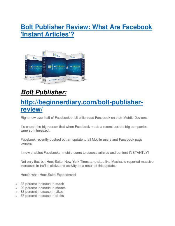 Bolt Publisher review demo and premium bonus Bolt Publisher Review - Bolt Publisher DEMO & BONUS