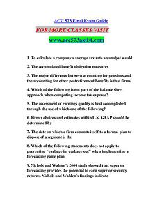 ACC 573 ASSIST Learn by Doing/acc573assist.com