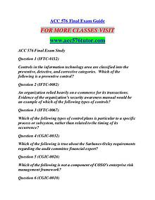 ACC 576 TUTOR Learn by Doing/acc576tutor.com