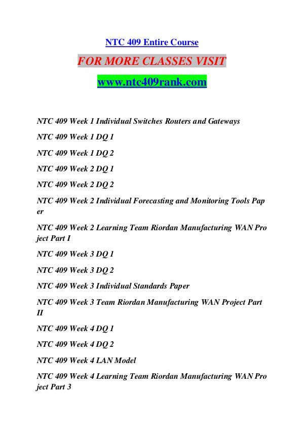 ntc 409 week 1 individual switches Ntc 409 week 4 lan model ntc 409 week 1 individual switches routers and gateways ntc 409 week 2 individual forecasting and monitoring tools paper/uophelp 1.