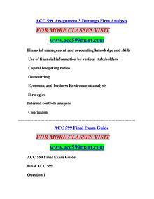 ACC 599 MART Learn by Doing/acc599mart.com