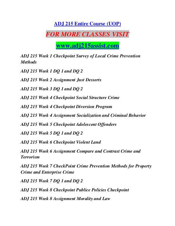 ADJ 215 ASSIST Learn by Doing/adj215assist.com ADJ 215 ASSIST Learn by Doing/adj215assist.com