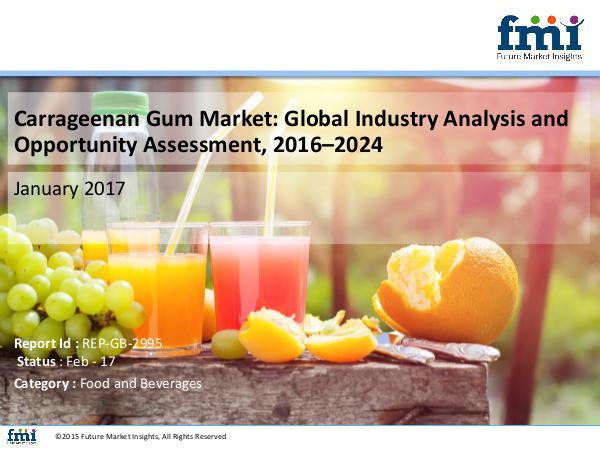 Global Carrageenan Gum Market to Soar at Moderate CAGR of 4.3%, 2024 FMI