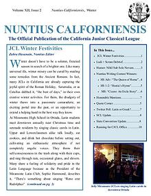 2016-17 Winter Issue of the Nuntius Californiensis