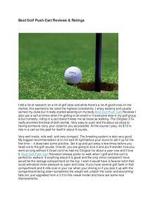 Best Golf Push Cart Reviews & Ratings