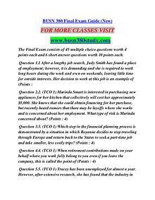BUSN 380 STUDY Career Path Begins/busn380study.com
