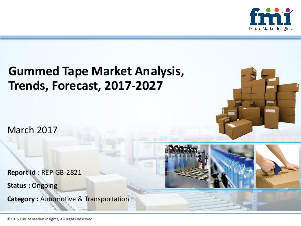 Market Forecast Report on Gummed Tape Market 2017-