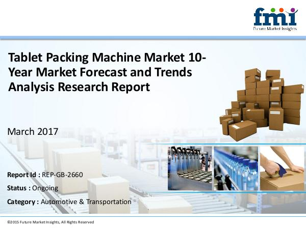 Tablet Packing Machine Market Expected to Expand a