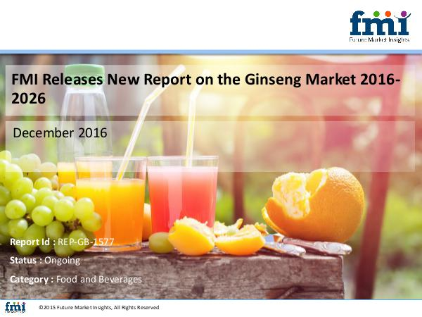 FMI Ginseng Market Growth and Forecast 2016-2026