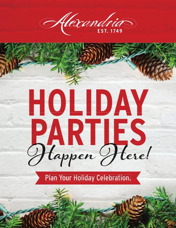 Plan the perfect holiday party in Alexandria, Virginia. Holiday Party Guide