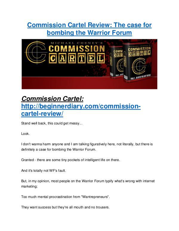 Commission Cartel review - Commission Cartel +100 bonus items Commission Cartel review & Commission Cartel $22,600 bonus-discount