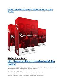 Marketing Video InstaFolio Review and (FREE) Video InstaFolio $24,700 Bonus