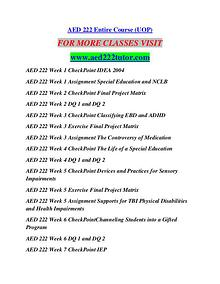 AED 222 TUTOR Learn by Doing/aed222tutor.com