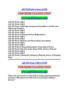 AJS 522 MASTER Learn by Doing/ajs522master.com
