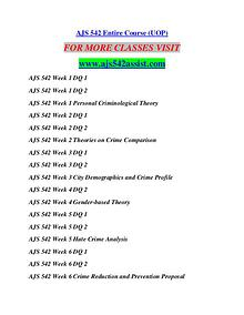 AJS 542 ASSIST Learn by Doing/ajs542assist.com