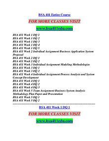 BSA 411 EDU Career Path Begins/bsa411edu.com
