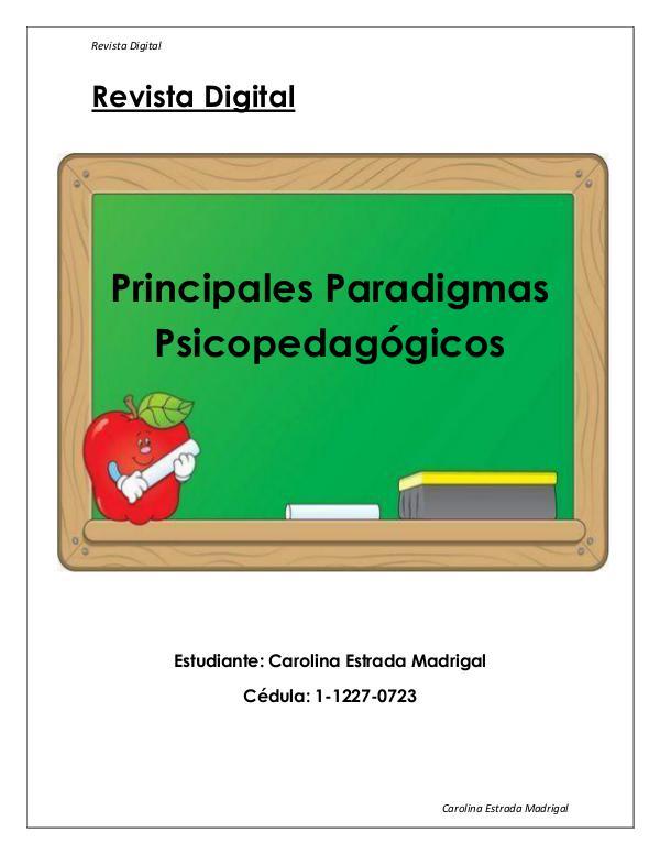 Paradigmas Psicopedagógicos REVISTA