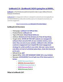 marketing LetReach 2.0 review - 65% Discount and FREE $14300 BONUS