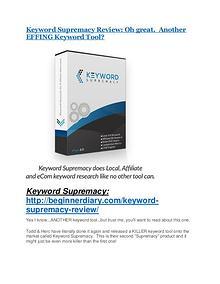 Keyword Supremacy Reviews and Bonuses-- Keyword Supremacy