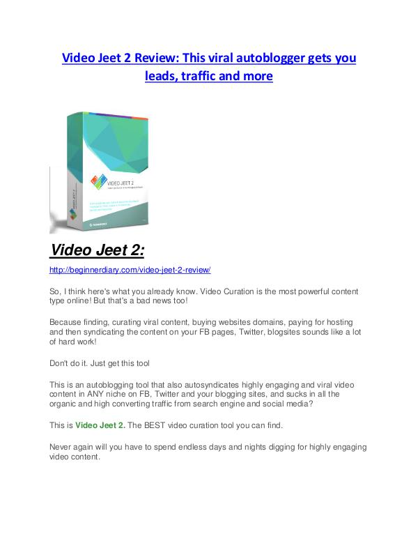 Video Jeet 2 Review demo - $22,700 bonus Video Jeet 2 Review and Premium $14,700 Bonus