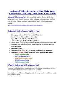 marketing online Animated Video Scenes V2 Review and Premium $14,700 Bonus
