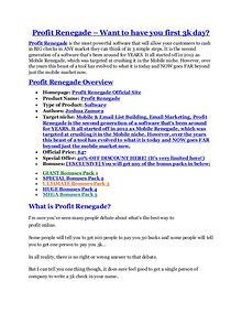 Profit Renegade review & Profit Renegade $22,600 bonus-discount Profit Renegade review in detail and (FREE) $21400 bonus