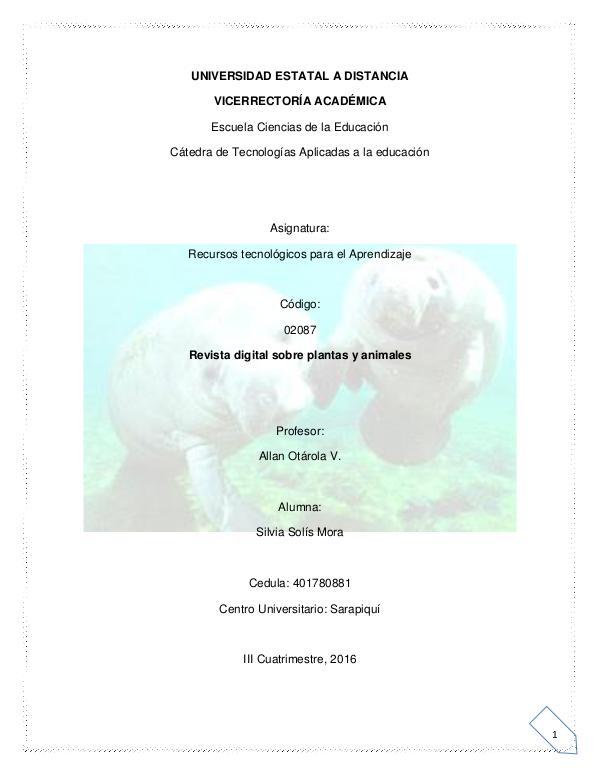 TIPOS DE ANIMALES Y PLANTAS 1