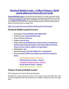 marketing online Warlord Mobile Leads Review & Warlord Mobile Leads $16,700 bonuses