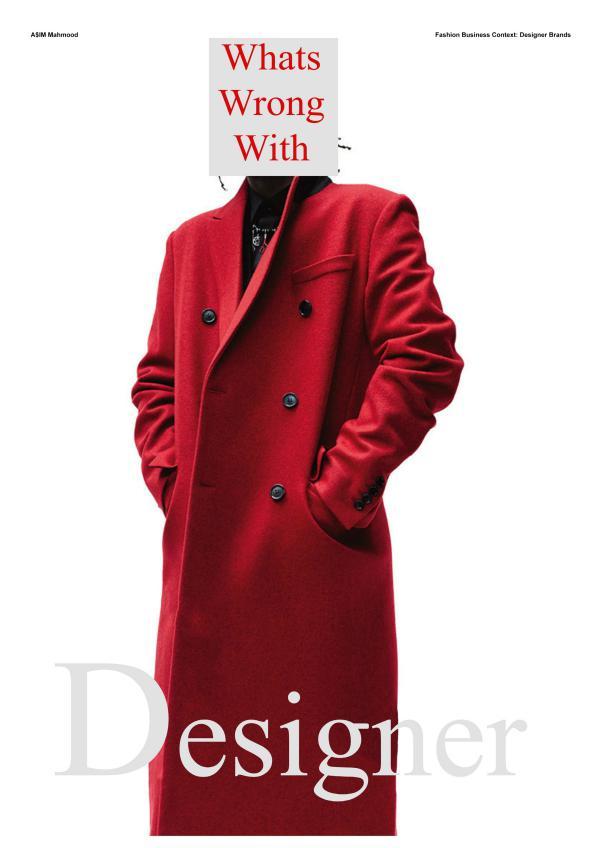Fashion Business Context - Designer Brands 1
