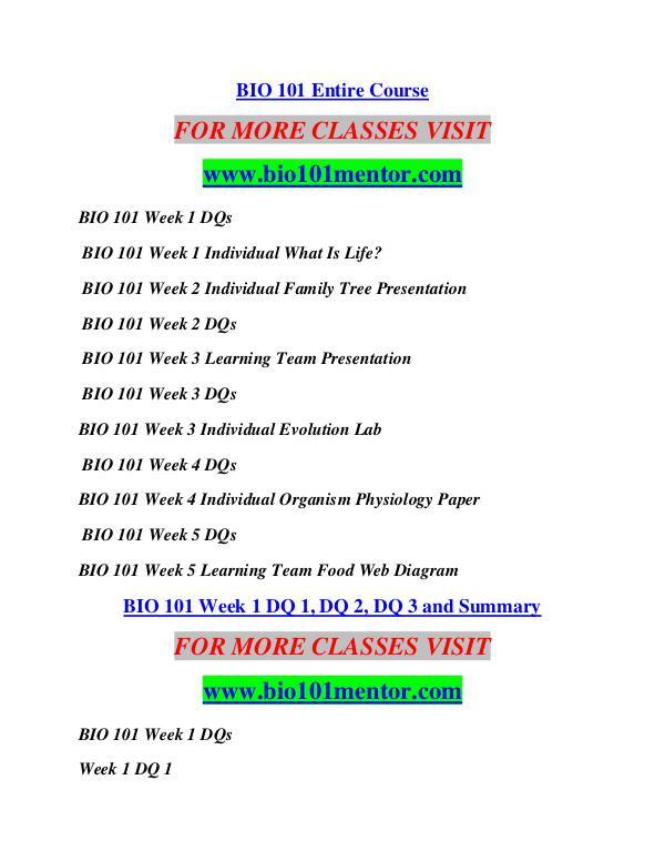 BIO 101 MENTOR Learn by Doing/bio101mentor.com BIO 101 MENTOR Learn by Doing/bio101mentor.com