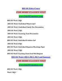 BIO 101 MENTOR Learn by Doing/bio101mentor.com