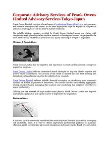 Corporate Advisory Services of Frank Owens Limited Advisory Services